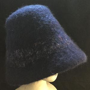 Accessories - NWOT Handmade Dark Blue Wool Ladies Fashion Hat